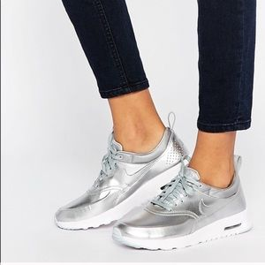 Nike silver AirMax shoes